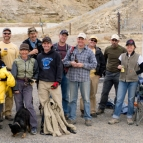 Group picture of trail building crew