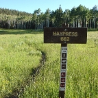 Haypress Trail Sign